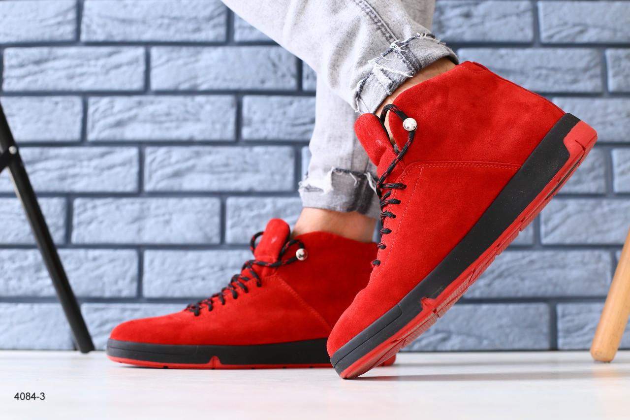 5cb3a8be Мужские зимние ботинки Сезон: зима Цвет: красные материал: натуральная  замша Утеплитель: полушерсть