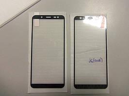 Захисне скло для Samsung j6 (2018 м) колір чорний покриває всю поверхню дисплея