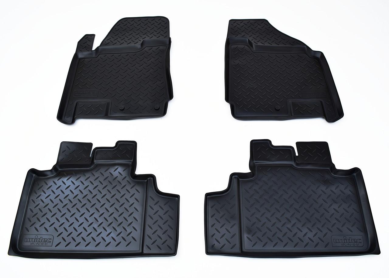 Килимки в салон для Cadillac SRX (10-) (полиур., компл - 4шт) NPL-Po-10-51
