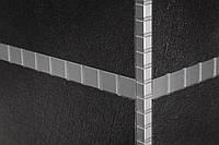 Алюминиевый декоративный внешний угол для плитки  Omega Design Платина Н-10 мм
