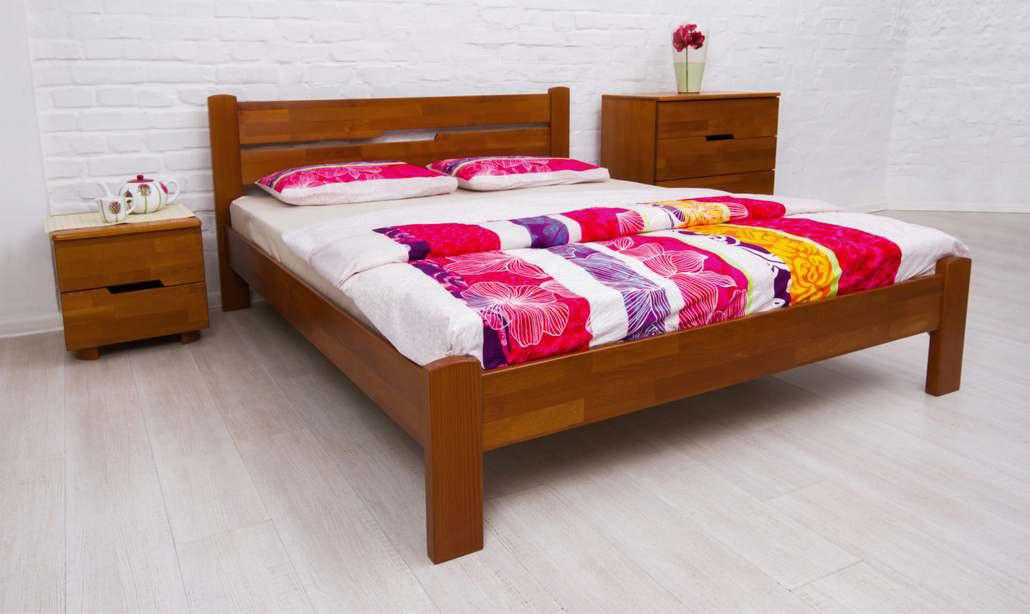 Кровать двуспальная деревянная  без изножья  Айрис Микс мебель, цвет на выбор