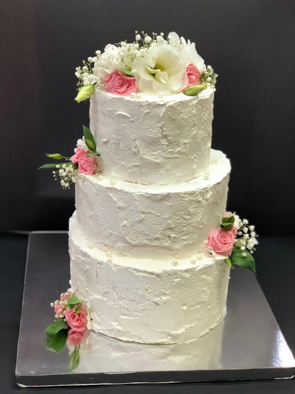 """Свадебный торт на заказ """"Живые цветы Нежность"""""""