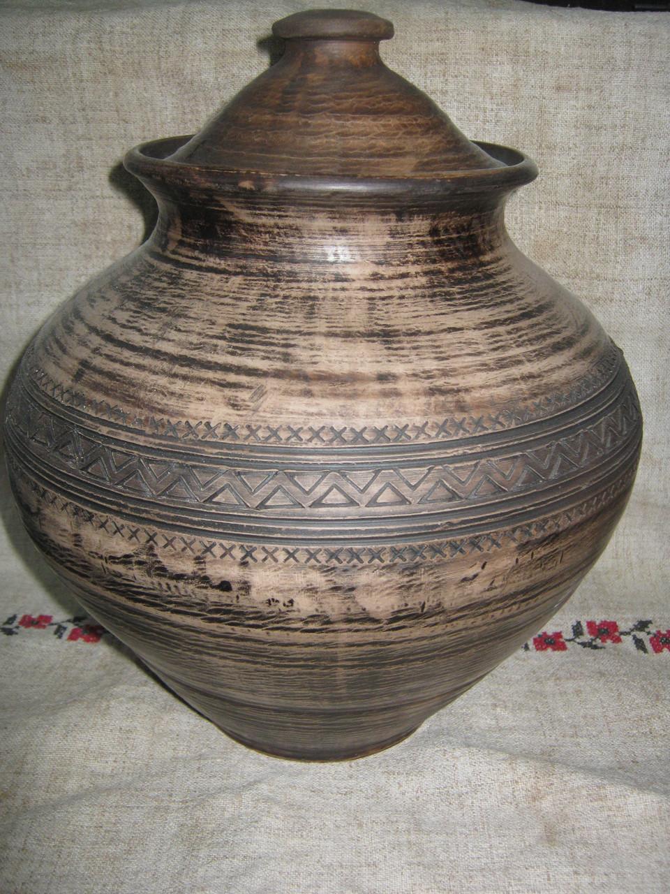 Горщик глиняний   5л