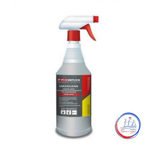 Средство для мытья сантехники и ванной комнаты и душевых кабин с распылителем MAXICLEAN 1л ТМ PRO Service
