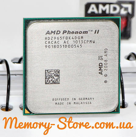 Процессор AMD Phenom II X4 965  Black Edition 3.4GHz 125W, + термопаста GD900, фото 2