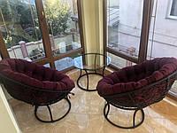 Комплект из техноротанга PAPASAN, кресло из ротанга, садовая мебель, садовые качели, мебель для балкона, лоджи
