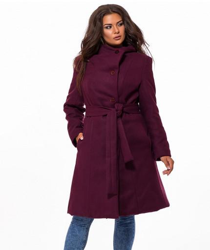 0a2b414863b1 Купить Женское кашемировое пальто на пуговицах весна-осень бордовый Украина  ...