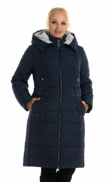 Зимний женский пуховик с капюшоном, размеры  48- 62