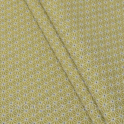 Жаккард, звёздочки жёлтый