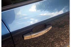 Накладки на ручки УЗКИЕ (4 шт) - Chevrolet Aveo T250 2005-2011 гг.