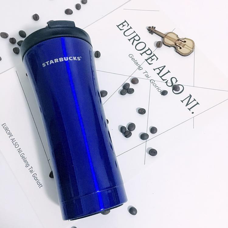 Термокружка 500 мл Starbucks Н-206. Термостакан Старбакс 500 ml с поилкой Синий