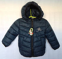 """Куртка детская демисезонная """"North"""" #K-377 для мальчиков. 1-2-3-4 года (86-104 см). Зелено-синяя. Оптом."""