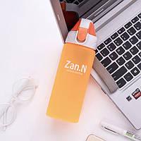 Бутылка пластиковая спортивная для воды и напитков (500 мл) оранжевая
