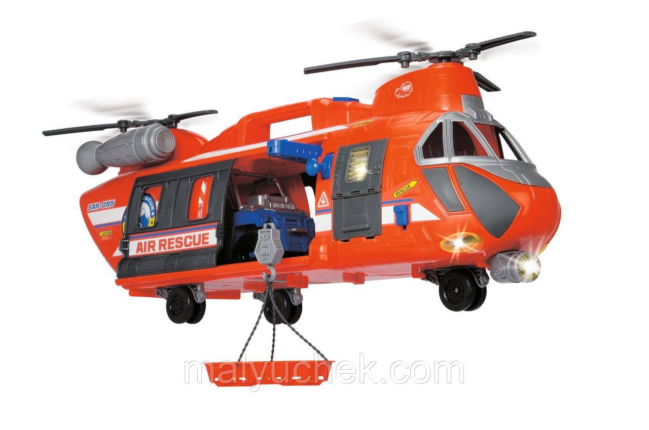 Dickie Большой Вертолет 56 см Спасательная служба свет звук 3309000