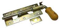 Засов гаражный с пружиной с дер. ручкой 180x70 мм оцинкованный Master Tools 92-0347