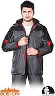Куртка BOSTON рабочая утепленная с водоотталкивающей пропиткой (сигнальная зимняя спецодежда) LH-BSW