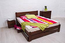 Кровать двуспальная деревянная с ящиками  Айрис Микс мебель, цвет на выбор, фото 2