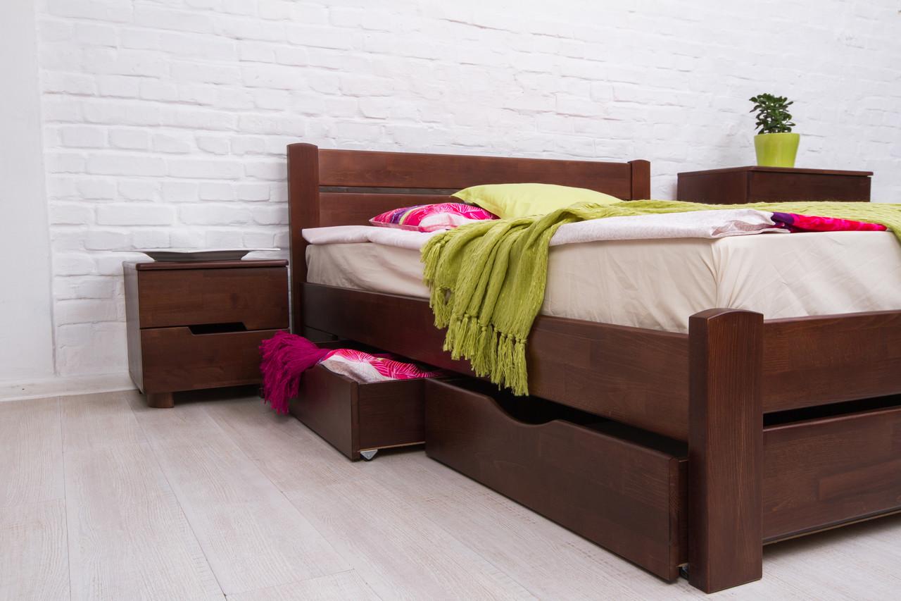 Кровать двуспальная деревянная с ящиками  Айрис Микс мебель, цвет на выбор
