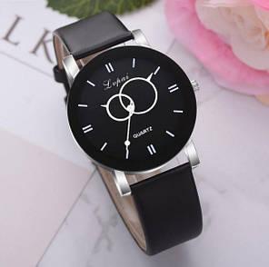 Часы женские Lvpai эффектные стрелки круги чёрные и белые, фото 2