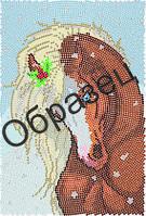 """Схема для круговой вышивки """"Белогривая лошадка"""""""