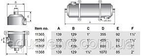 Теплообмінник Pahlen Maxi-Flo трубчастий MF 135, 40кВт, фото 2