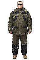"""Теплый зимний костюм для рыбалки и охоты """"Турист"""" Хаки размер 52-54"""