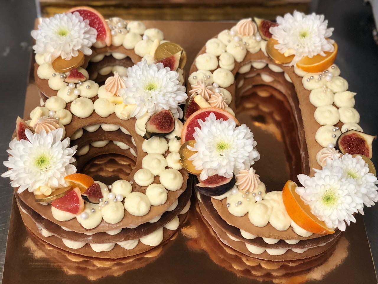 Торт ЦИФРЫ на День Рождения  - 80