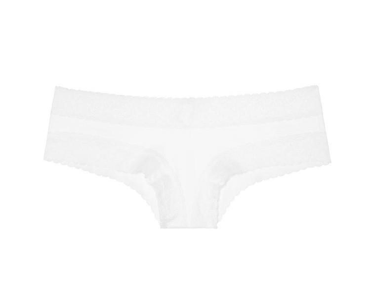 💋 Хлопковые Трусики Чики Victoria's Secret Cheeky Panty M, Белые