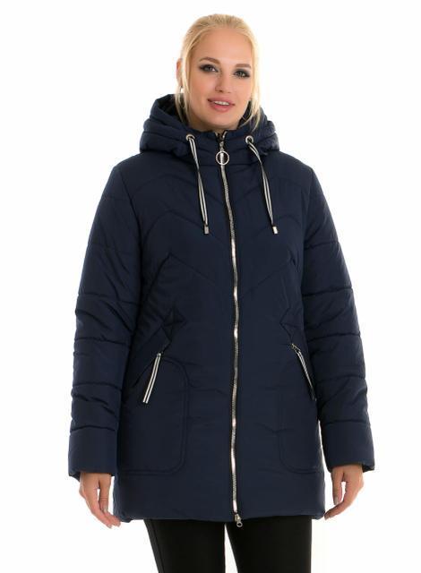 Жіноча зимова куртка без хутра, розміри 48 - 60