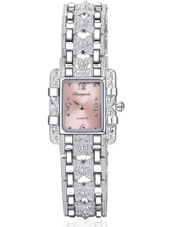 Женские наручные часы с серебристым браслетом код 422