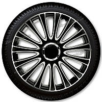 Колпаки Le Mans R16 черные схромированным кольцом Argo