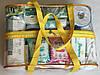 Набор из 4+1 прозрачных сумок в роддом - S,M,L,XL - Желтые, фото 3