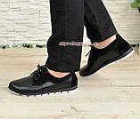 Женские туфли на шнуровке, из натуральной кожи и замши черного цвета, фото 2