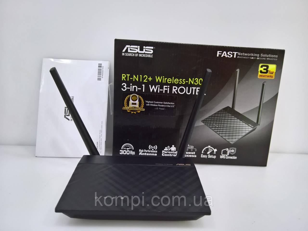 Asus RT-N12+ Wireless-N300 Маршрутизатор /Роутер Wi-Fi
