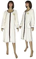 NEW! Элегантные женские домашние махровые халаты серии Mariya Batal Milk батальных размеров!