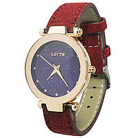 ☛Наручные часы LSVTR Fashion Red женские на основе кварцевого механизма стильный ремешок