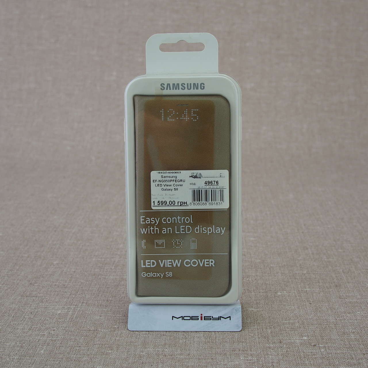 Чехол Samsung EF-NG950PFEGRU LED View Cover Galaxy S8 EAN/UPC: 8806088691831