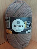 Фантазийная пряжа(70%-хлопок,30%-полиамид; 200г/120м) Kartopu Home Decor K885(коричневый)