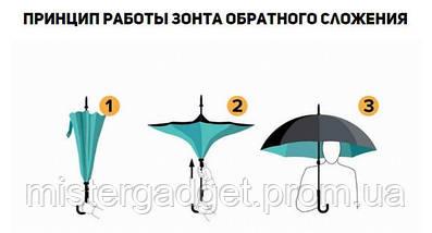 Зонт ветрозащитный Up-Brella Космос зонт обратного сложения, фото 3