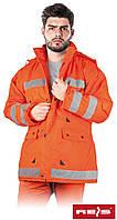 Куртка утепленная сигнальная рабочая оранжевая Reis Польша (спецодежда зимняя) K-ORANGE P, фото 1