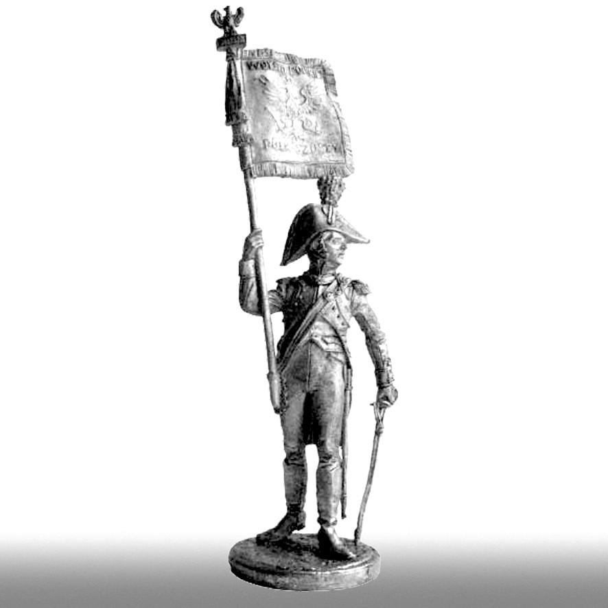 Офицер орлоносец VI пехотного полка, 1810-1814 годы