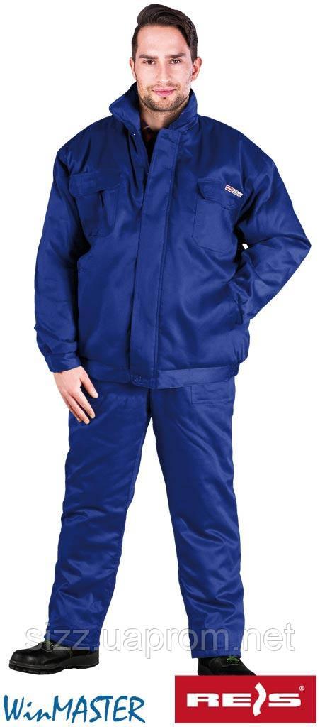 Комплект утепленный рабочий зеленый REIS Польша (костюм зимний рабочий брюки и куртка) UMO-PLUS , фото 1