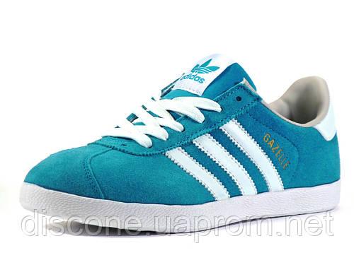 Кеды спортивные Adidas унисекс бирюзовые/ замшевые
