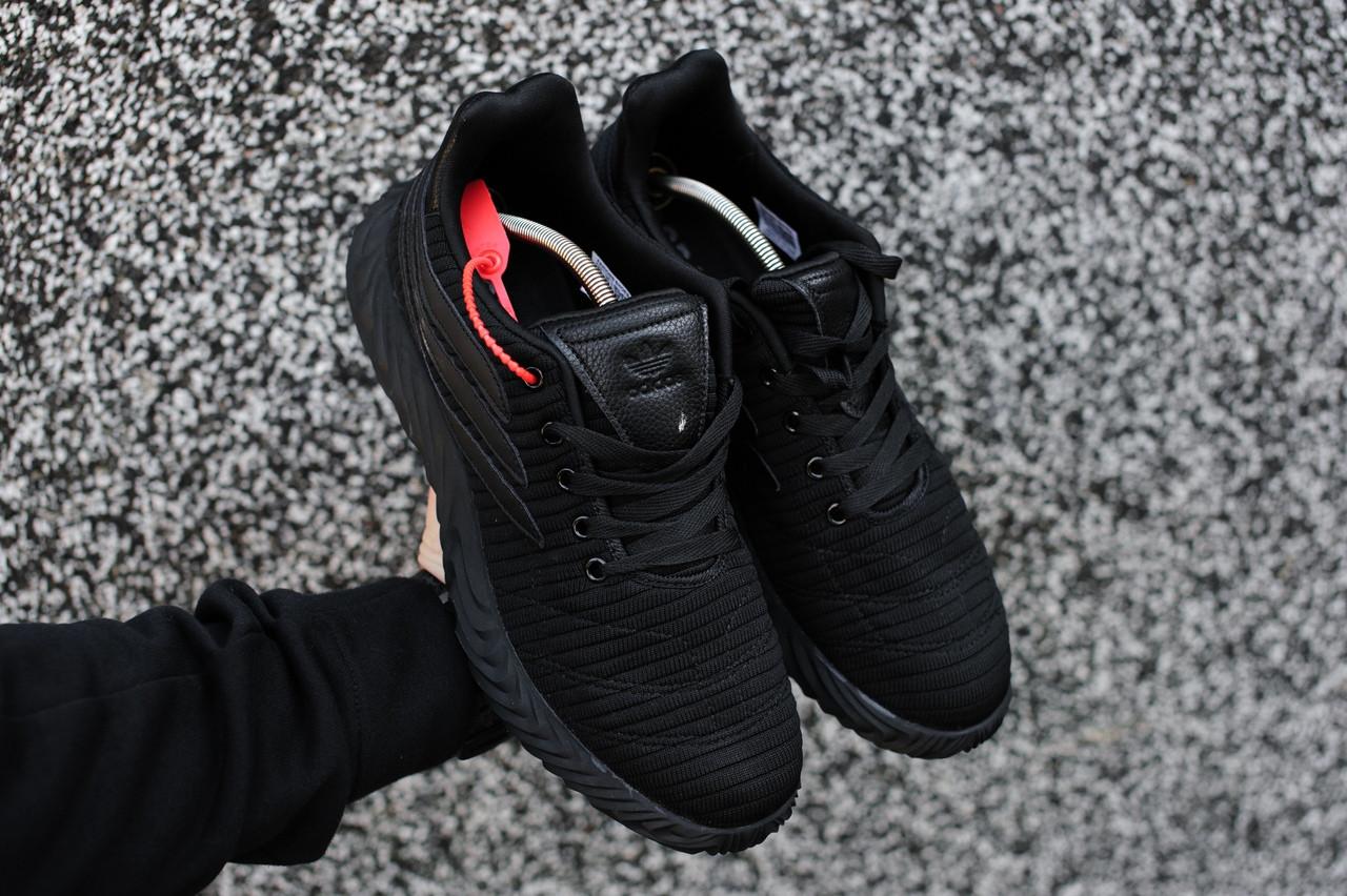 Чоловічі кросівки Adidas Sobakov Core Black, Репліка ААА