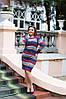 Красивое приталенное повседневное трикотажное платье , фото 3
