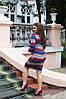Красивое приталенное повседневное трикотажное платье , фото 4