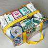Набор из 3 прозрачных сумок в роддом - S,L,XL - Желтые, фото 5