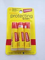 Бальзам для губ Carmex классический 3 шт в упаковке, фото 1