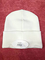 Модная шапка Канзас молочная, фото 2
