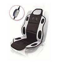 Накидка с подогревом для переднего сидения авто Vitol 115-49 см (H 19002 GY/BK)